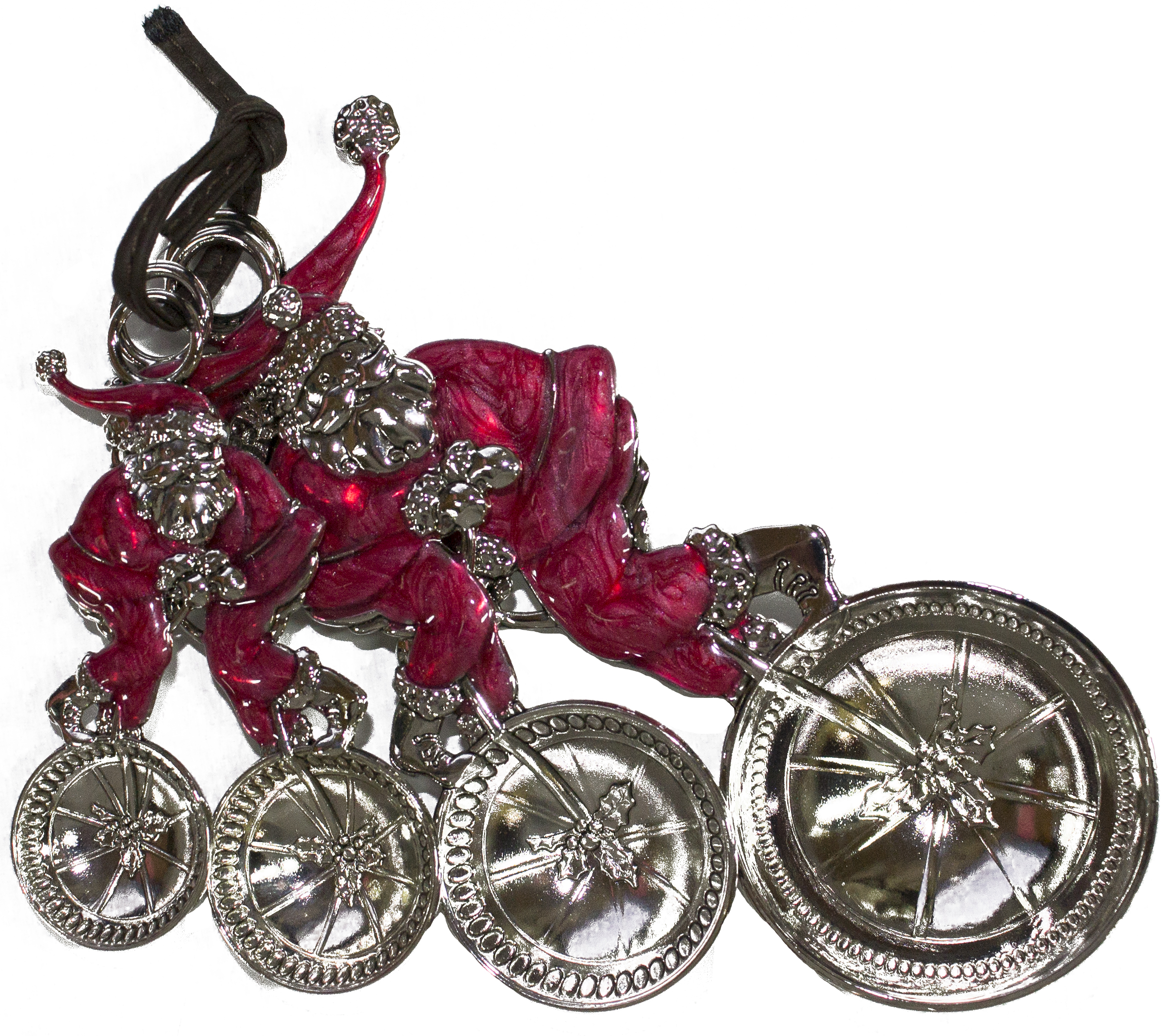 Attractive High Quality Santa's Ride Zinc 4 Piece Measuring Spoon Set by Gnz
