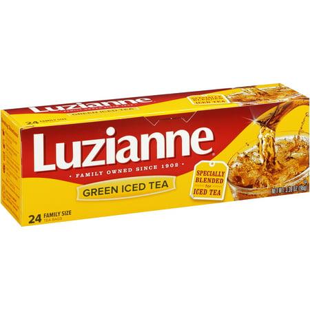 Luzianne Vert Thé glacé sachets de thé, 24 comte, 3,39 oz
