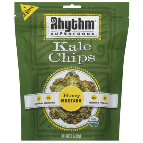 Rhythm Superfoods Honey Mustard Kale Chips, 2 oz, (Pack of 12)