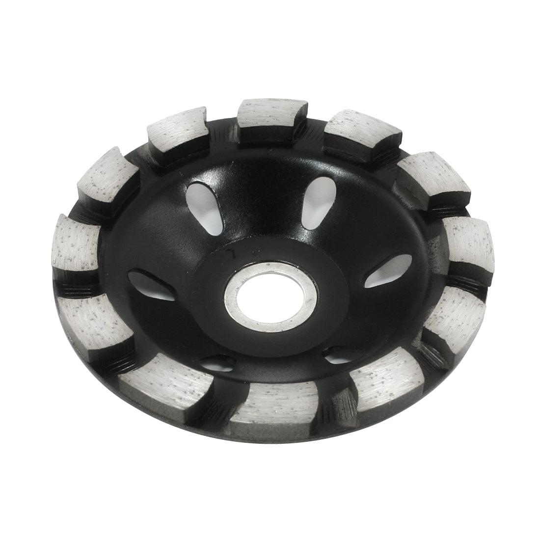 100 x 7 x 23mm Polishing Ceramic Concrete Grinding Black Silver Tone