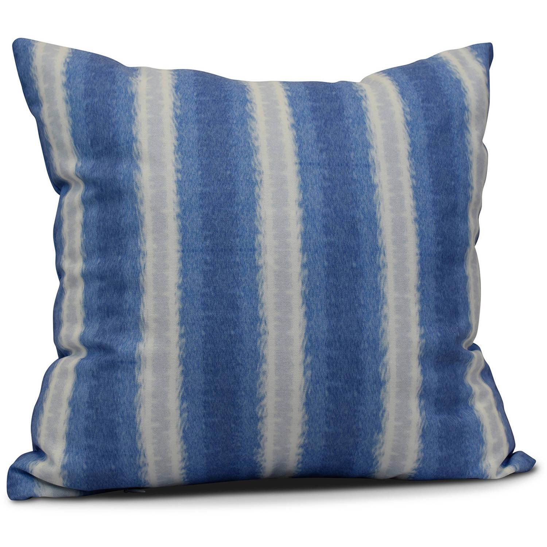 "Simply Daisy 16"" x 16"" Sea Lines Stripe Print Pillow"
