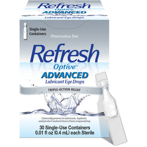 Refresh Optive�� Advanced Lubricant Eye Drops 30-0.01 fl. oz. Tubes