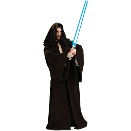 Dog Jedi Costume (Star Wars Super Deluxe Jedi Robe Adult Halloween Costume - One Size Up to)