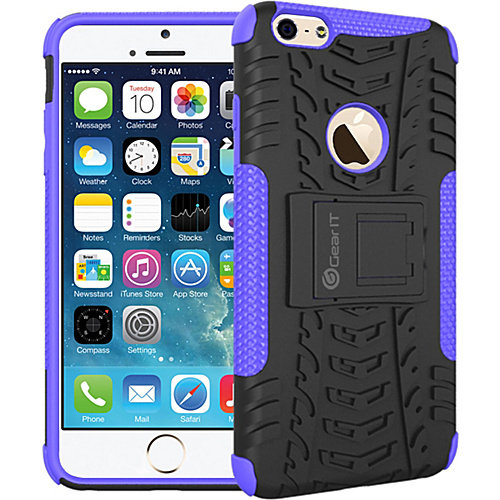 rooCASE Heavy Duty Armor Hybrid Rugged Stand Case for Apple iPhone 6/6s - 4.7""