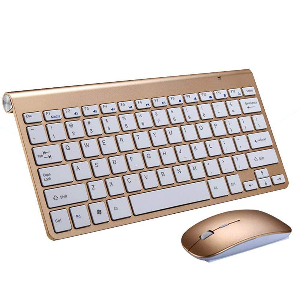 Ultra-thin Keyboard Suit 2.4G Wireless Keyboard and Mouse for PC Computer