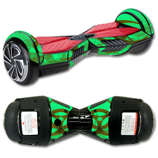 MightySkins Protective Vinyl Skin Decal for Self Balancing Board Scooter Hover 2 Wheel mini board unicycle bluetooth wrap cover sticker Biohazard