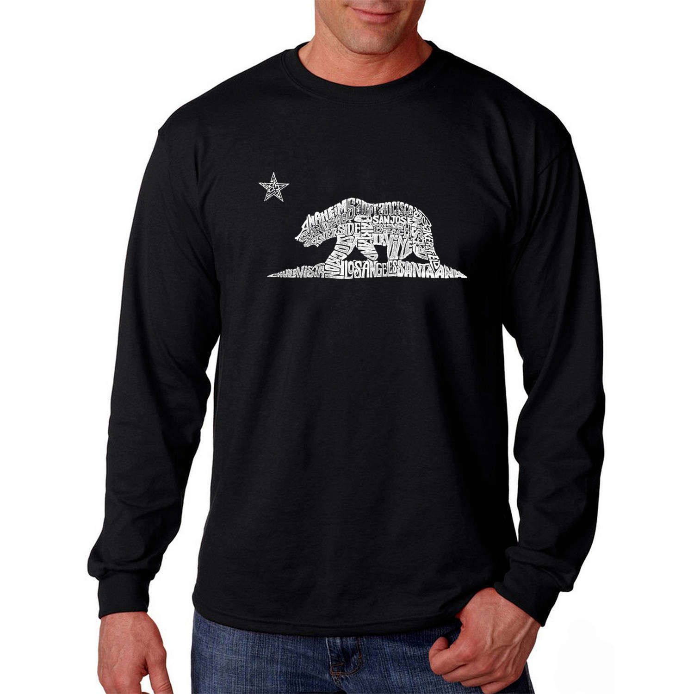 Los Angeles Pop Art Men's Long Sleeve T-shirt - California Bear