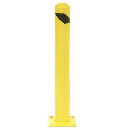 Round Bollard - 42 Inch High Round Bollard, Yellow, Lot of 1