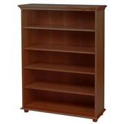 Birch 5 Shelf Kids Bookcase w Crown & Base in Chestnutt