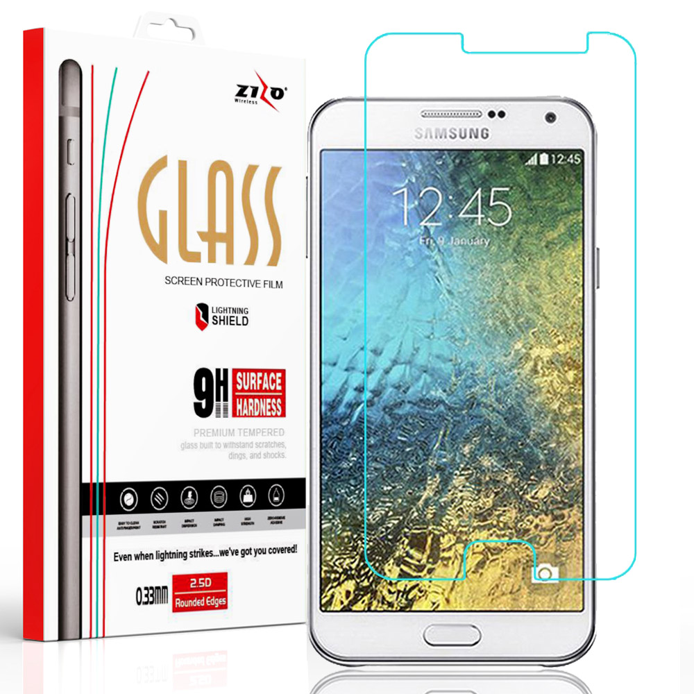 Zizo® Tempered Glass Screen Protector for Samsung Galaxy J7 J700 2015 [Anti-Scratch] 9H Hardness ...