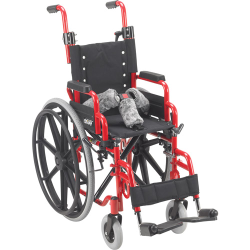 "Wallaby Pediatric Folding Wheelchair-Size:12"" Seat Width"