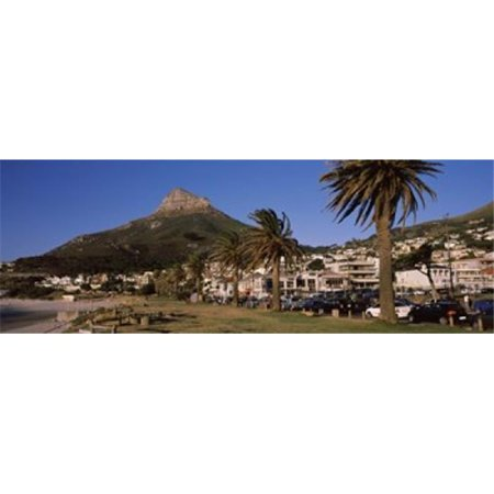 City at the waterfront  Lions Head  Camps Bay  Cape Town  Western Cape Province  South Africa Poster Print by  - 36 x 12 - Party City South Bay