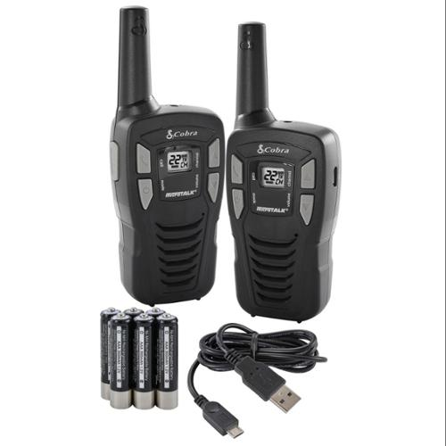 (2) COBRA 16 Mile 22 Ch FRS/GMRS Walkie Talkie 2-Way Radios w/USB Cable | CXT195 [Refurbished]