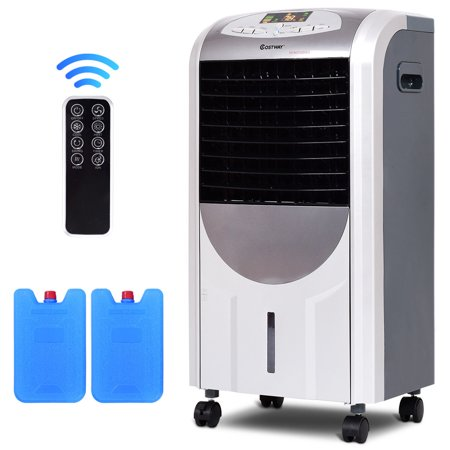 Costway Portable Air Cooler Fan & Heater Humidifier with Washable Filter Remote