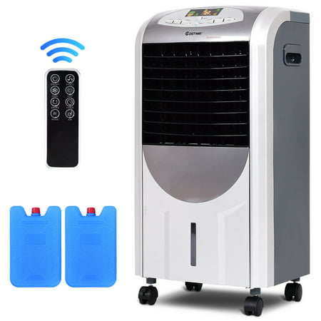 Climate Control Heater Hose - Costway Portable Air Cooler Fan & Heater Humidifier with Washable Filter Remote Control