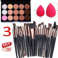 15 Colors Makeup Contour Face Cream Concealer Palette Professional + 20 BRUSH SP