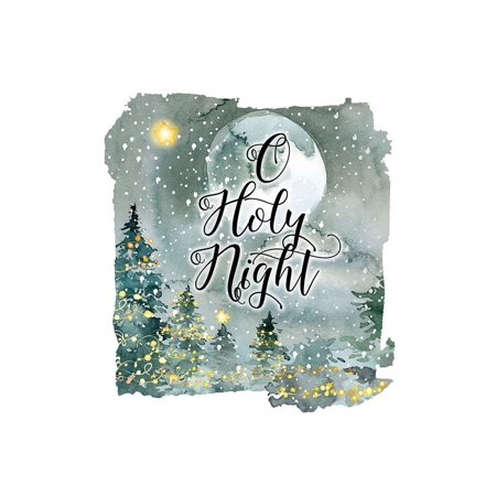 O Holy Night Watercolor Poster Print by Tara Moss