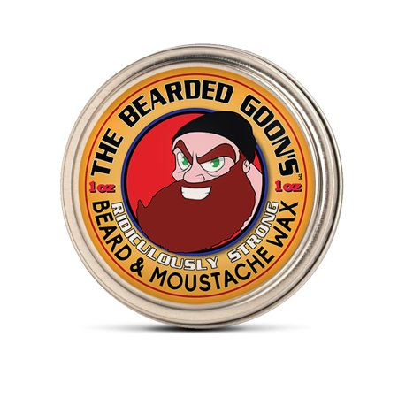 The Bearded Goon's RIDICULOUSLY STRONG Beard & Handlebar Moustache Wax - 1oz (30ml) Strongest Hold for Mustache, Beards, and Facial Hair](Moustache Sale)