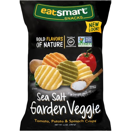 Eatsmart Snacks Sea Salt Garden Veggie Crisps, 6 oz