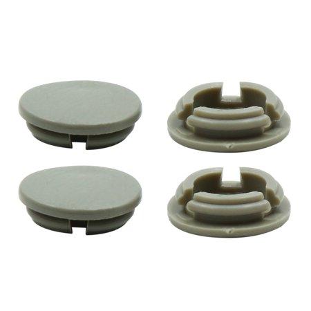 4pcs Gray Plastic Universal Car Decoration Screws Bolts Nuts Cap Covers 10mm - image 3 of 3