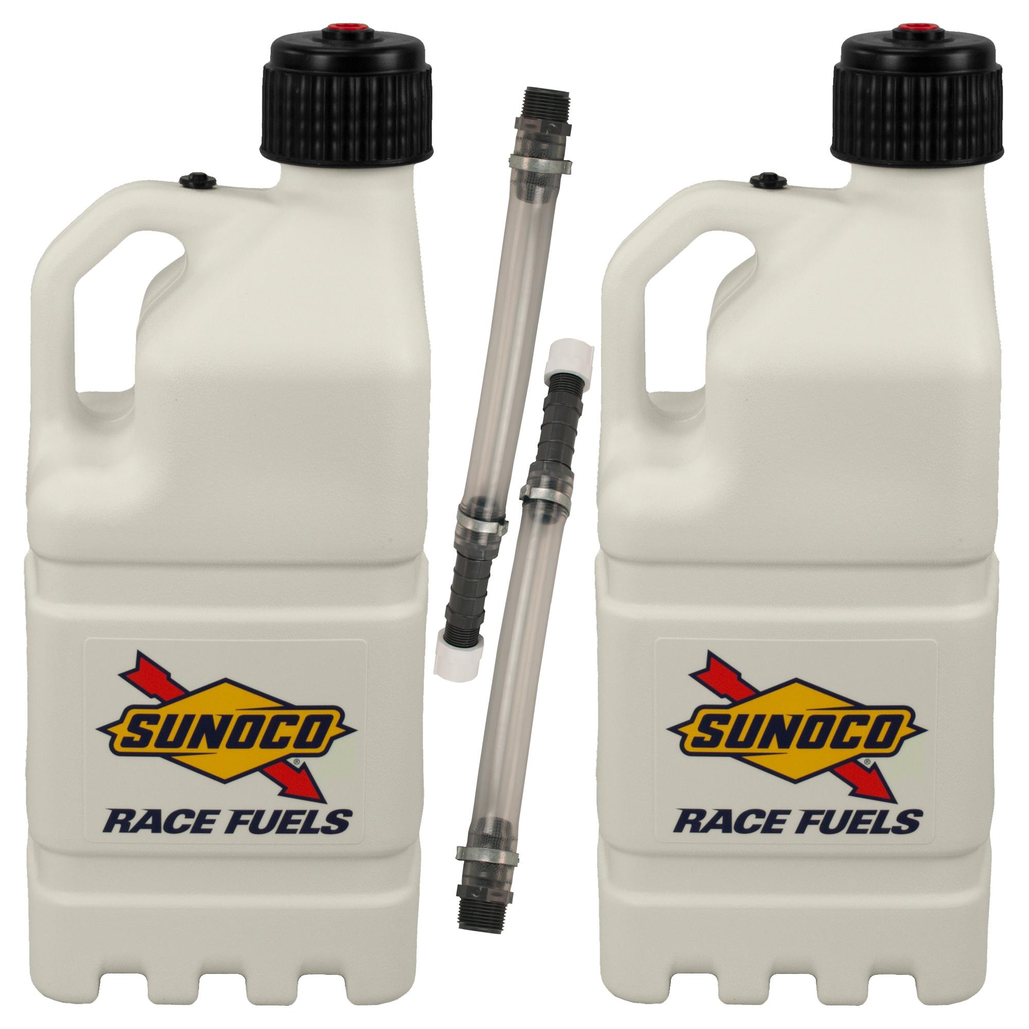 2 Pack Sunoco Racing White 5 Gallon Race Utility Jugs