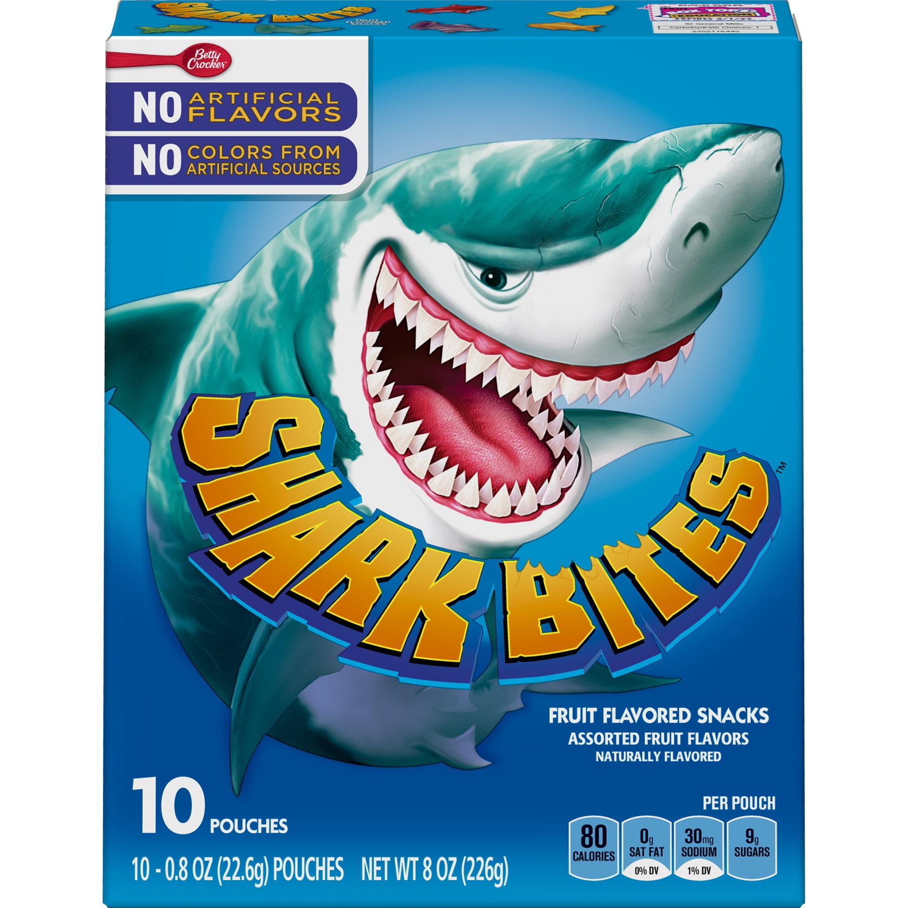 Shark Bites Fruit Flavored Snacks Assorted Flavors 10 ct 8 oz
