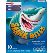 Shark Bites Fruit Flavored Snacks Assorted Flavors 10 ct 8 oz