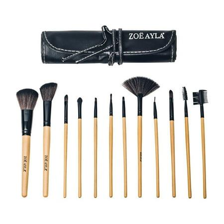 ZOE AYLA 12 Piece Professional Make-Up Brush Set with Travel Case - image 7 of 7