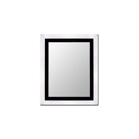 Stainless wall mirror with black inlet size 48 x 60 for Mirror 48 x 60