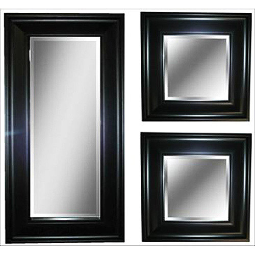 Black Accent Mirror, Set of 3