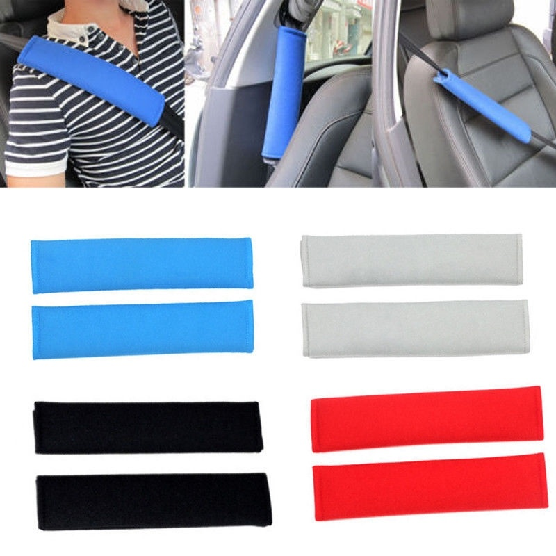 2pcs Car Safety Seat Belt Shoulder Pads Cover Cushion Harness Pad Accessory