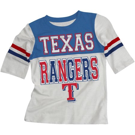 Texas Rangers Autographed Mlb Baseball - MLB Texas Rangers Girls Short Sleeve White Graphic Tee