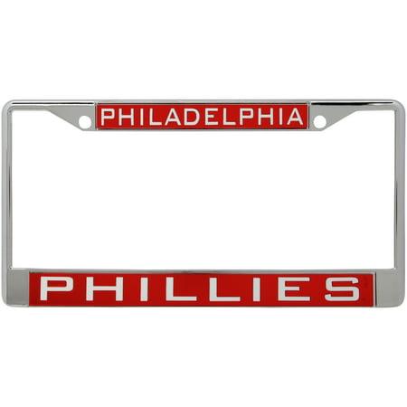 Philadelphia Phillies WinCraft Laser Inlaid Metal License Plate Frame - No Size