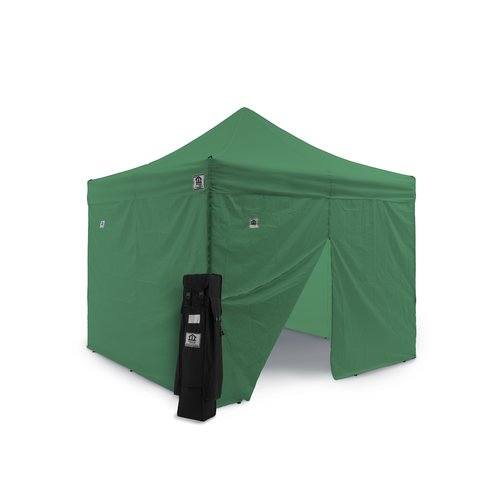 Impact Instant Canopy AOL 10x10 EZ Pop Up Canopy Tent Aluminum Commercial Instant Shelter w Sidewalls by PINE-SOL