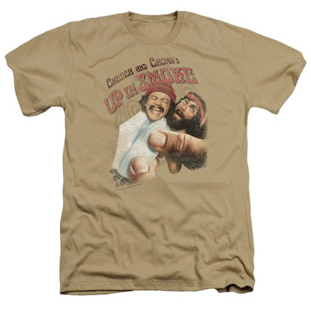 Cheech & Chong Rolled Up Mens Heather Shirt - Cheech And Chong Up In Smoke Costume