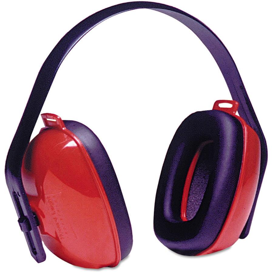 Howard Leight by Honeywell - QM24+ Three-Position Earmuffs, 24NRR, Red/Black