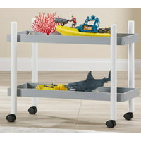 Mainstays Kids 2-Tier Storage Cart, Grey