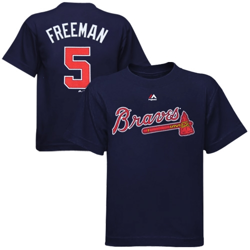 Freddie Freeman Atlanta Braves Majestic Preschool Player Name & Number T-Shirt - Navy