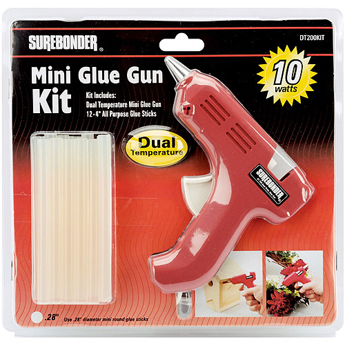 Dual-Temp Mini Glue Gun Kit-Red