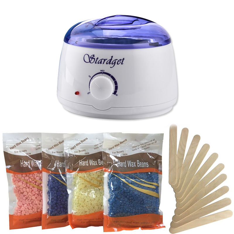 Stardget Wax Warmer Hair Removal Kit With Hard Wax Beans And Wax Applicator Sticks Walmart Com Walmart Com