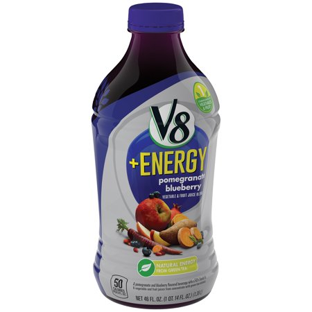 V8 Fusion   Energy Pomegranate Blueberry Vegetable   Fruit Juice  46 Fl Oz