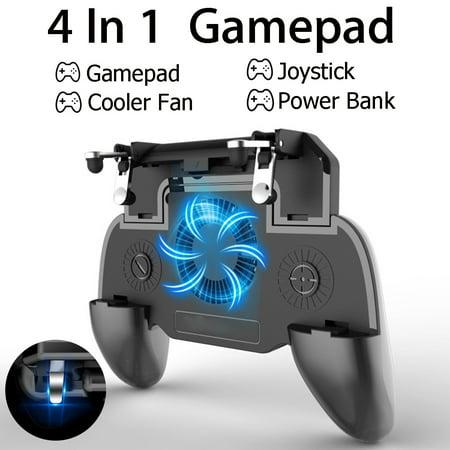 Metal Gamecube Pad - Mobile GamePad For PUBG Cooler Cooling Fan L1 R1 Shooter Controller Handle Joystick Metal Trigger with 2000/4000mAh