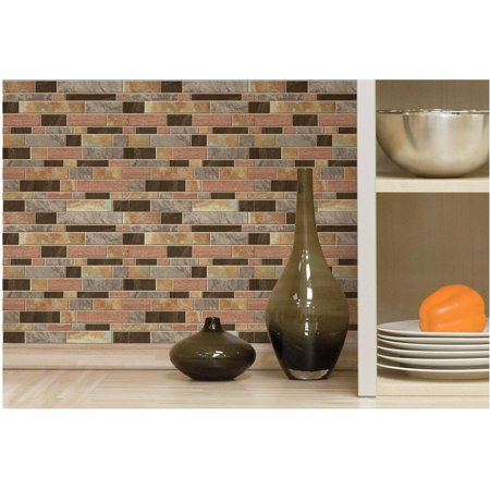 RoomMates Modern Long Stone StickTILES, 4-Pack