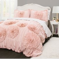 Better Homes and Gardens Ruffled Flowers Handcrafted Comforter & Sham Set