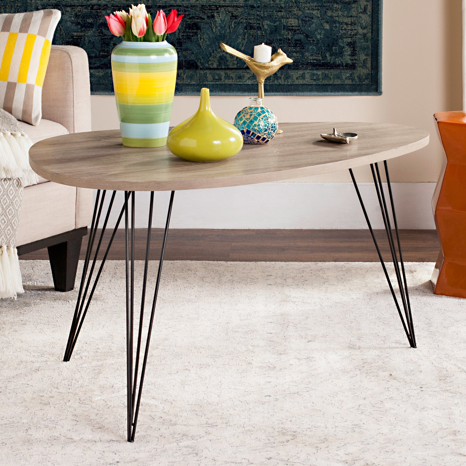 Safavieh Rocco Retro Mid Century Coffee Table, Multiple Colors