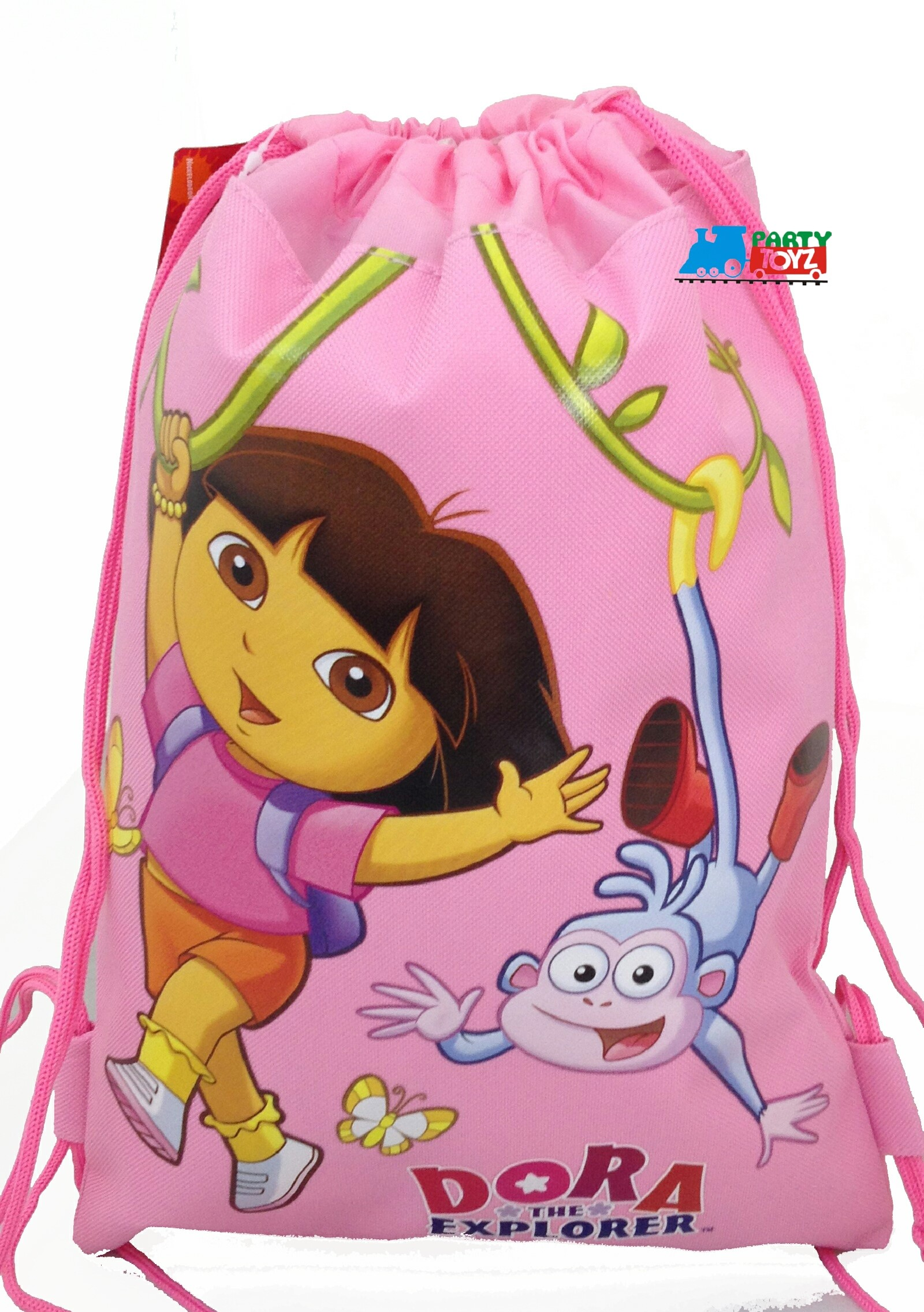 Drawstring Bag Dora the Explorer Pink Cloth String Bag by Bare Brothers