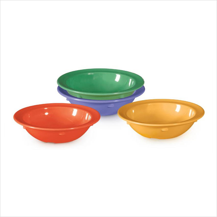Creative Table 5 oz 4.75 x 1 Bowl Mix Pack of 4 Mardi Gras Colors Melamine/Case of 48