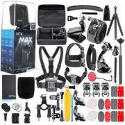 GoPro MAX 360 Action Camera W/50 Piece Accessory Kit: Spherical 5.6K30 HD Video :16.6MP 360 Photos :1080p Live Streaming Stabilization :All You Need