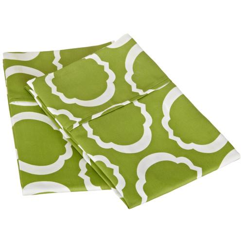 Simple Luxury Scroll Park Cotton Rich 600 Thread Count Pillowcase Pair