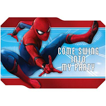 Marvel Spiderman Superhero Birthday Party Invitations 16 Count with Save the Date Stickers](Save The Date Halloween Party Invitations)